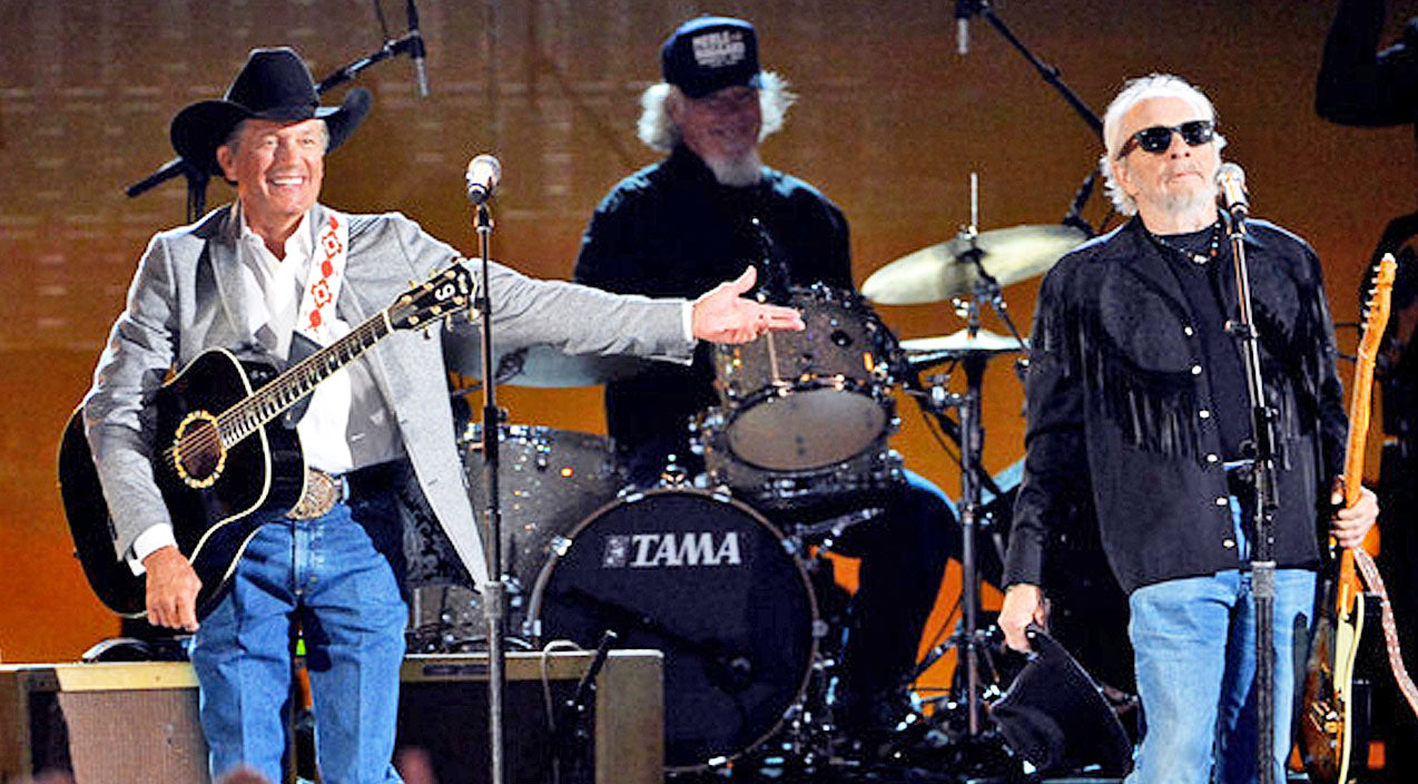 Merle haggard Songs | George Strait & Merle Haggard Team Up For Upbeat Tribute To The Troops | Country Music Videos