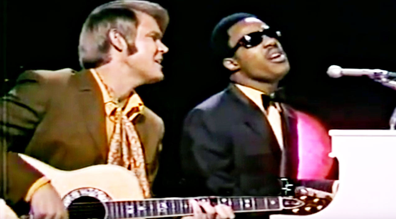 Stevie wonder Songs | Stevie Wonder & Glen Campbell Honor Bob Dylan With Stunning Signature Song | Country Music Videos