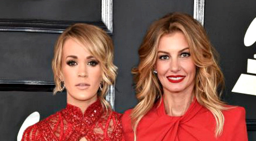 Faith hill Songs | Faith Hill And Carrie Underwood Arrive At Grammys In Matching Dresses | Country Music Videos