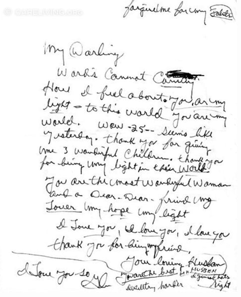 Read The Romantic Letter Glen Campbell Wrote His Wife For Their