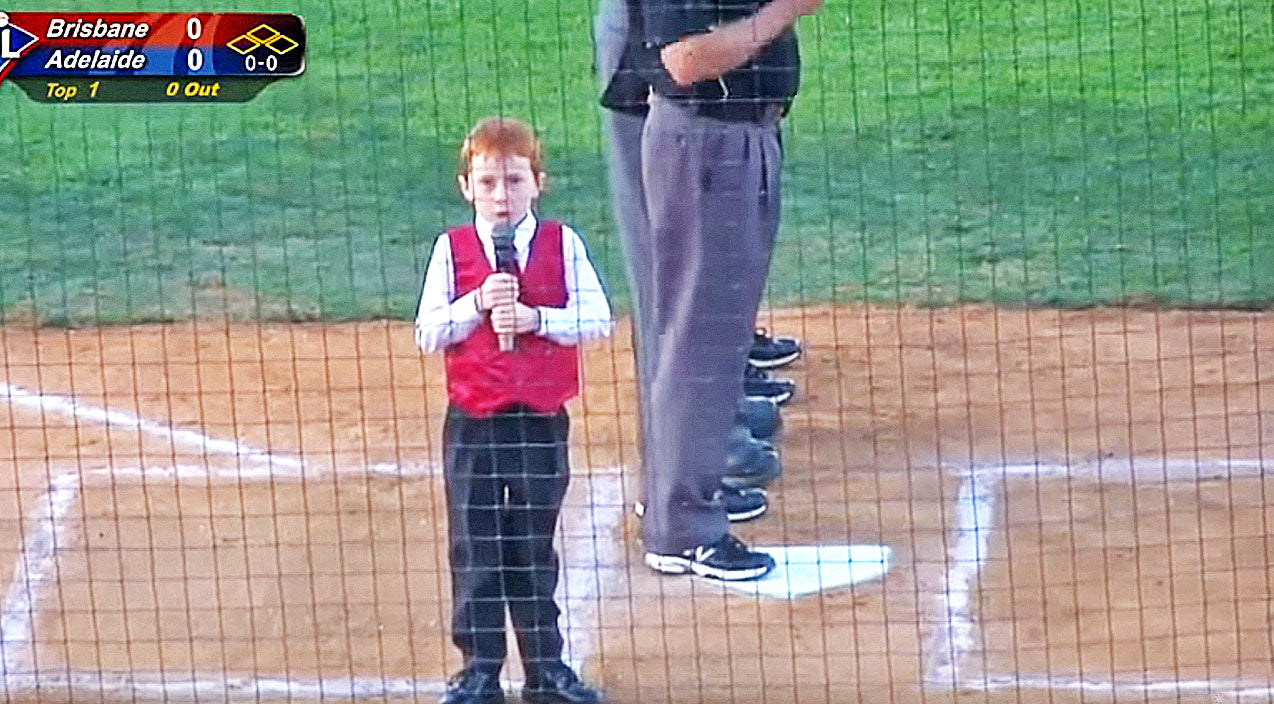 Young Boy Overcome With Hiccups While Singing National Anthem | Country Music Videos