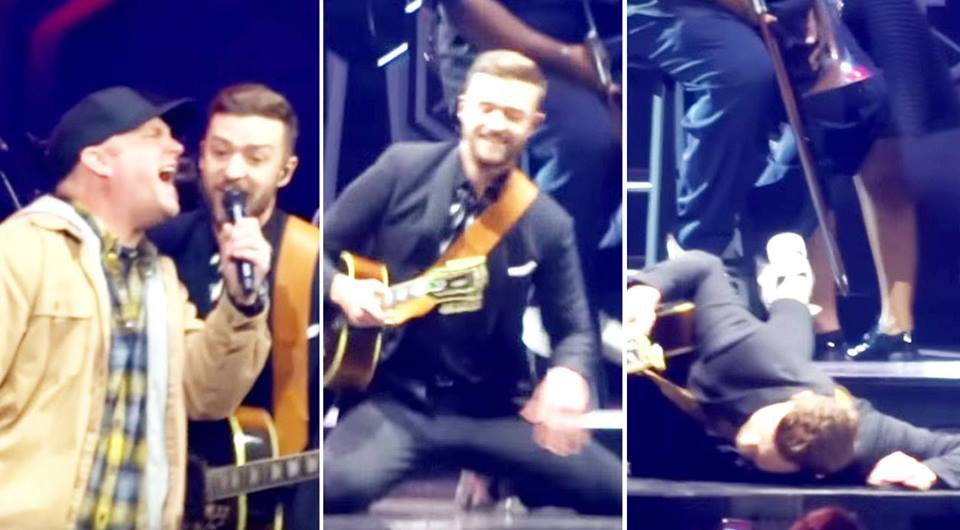 Modern country Songs | Garth Brooks Crashes Justin Timberlake's Concert...His Reaction?? I'M DYING!! | Country Music Videos