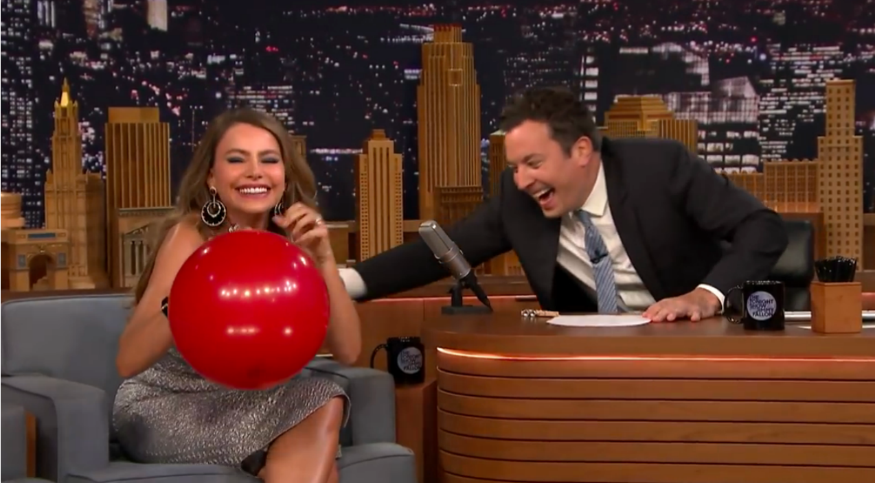 Jimmy Fallon Asks Actress To Inhale Helium, They Can't Stop Laughing When She Starts Talking | Country Music Videos