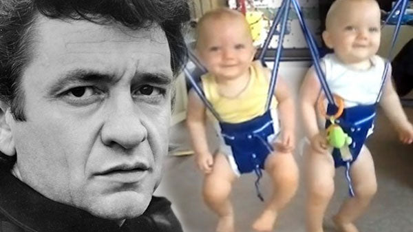 Johnny cash Songs | Twin Babies Rock 'n' Bounce To Johnny Cash! | Country Music Videos
