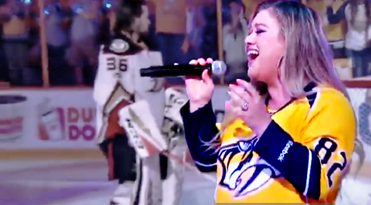 Kelly clarkson Songs | Kelly Clarkson Lights Up Nashville Playoffs With