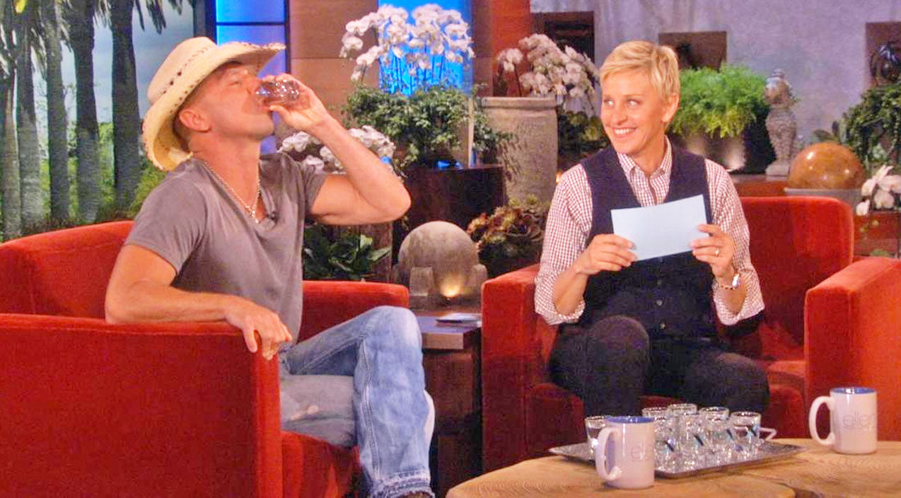 Kenny chesney Songs | Ellen DeGeneres Challenges Kenny Chesney To A Drinking Contest He Can't Win | Country Music Videos