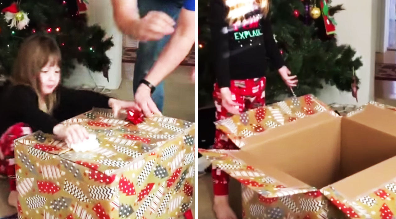 Kitten Surprises Toddler For Christmas...But She Has No Idea | Country Music Videos