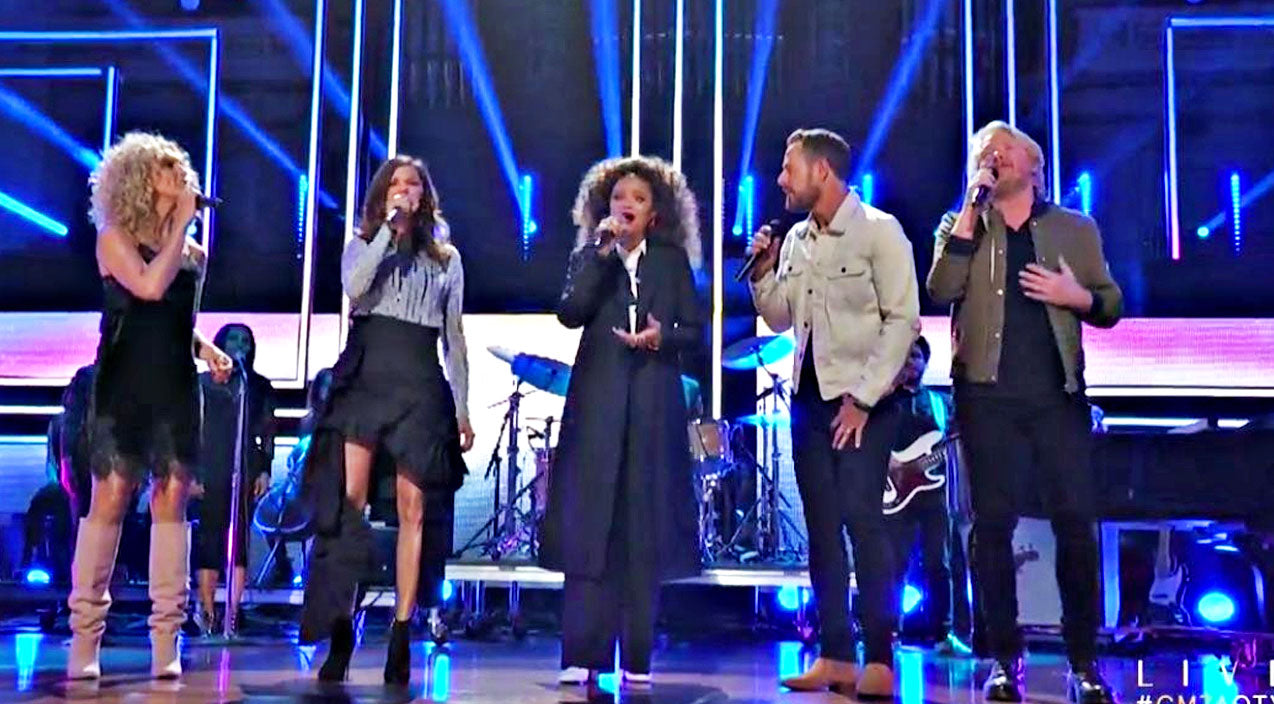 Little big town Songs | CMT Artists Of The Year Opens With Emotional 'Rise Up' Tribute To Victims Of Vegas Shooting | Country Music Videos