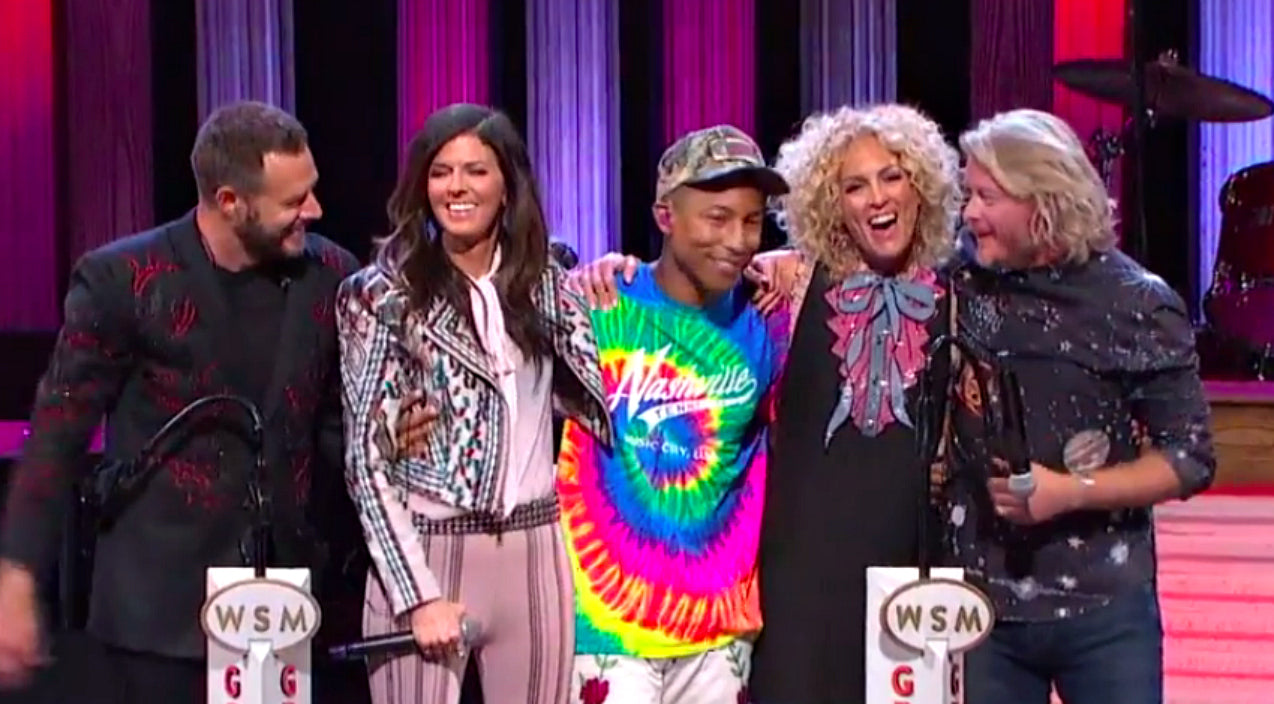 The voice Songs | [WATCH] Pharrell Makes Surprise Appearance At Opry With Little Big Town | Country Music Videos