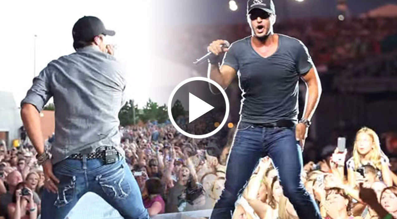 luke bryan country girl shake it for me live linigar. Black Bedroom Furniture Sets. Home Design Ideas