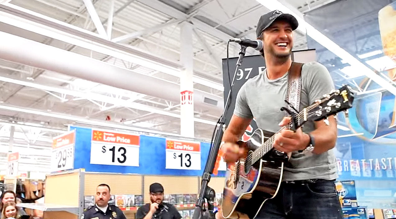 Luke bryan Songs | Luke Bryan Performs Intimate Concert At Wal-Mart Store | Country Music Videos
