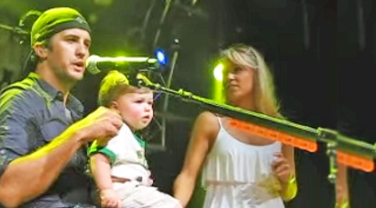 Luke bryan Songs | Luke Bryan Convincing Baby Bo To Dance On Stage Is Absolutely Adorable | Country Music Videos