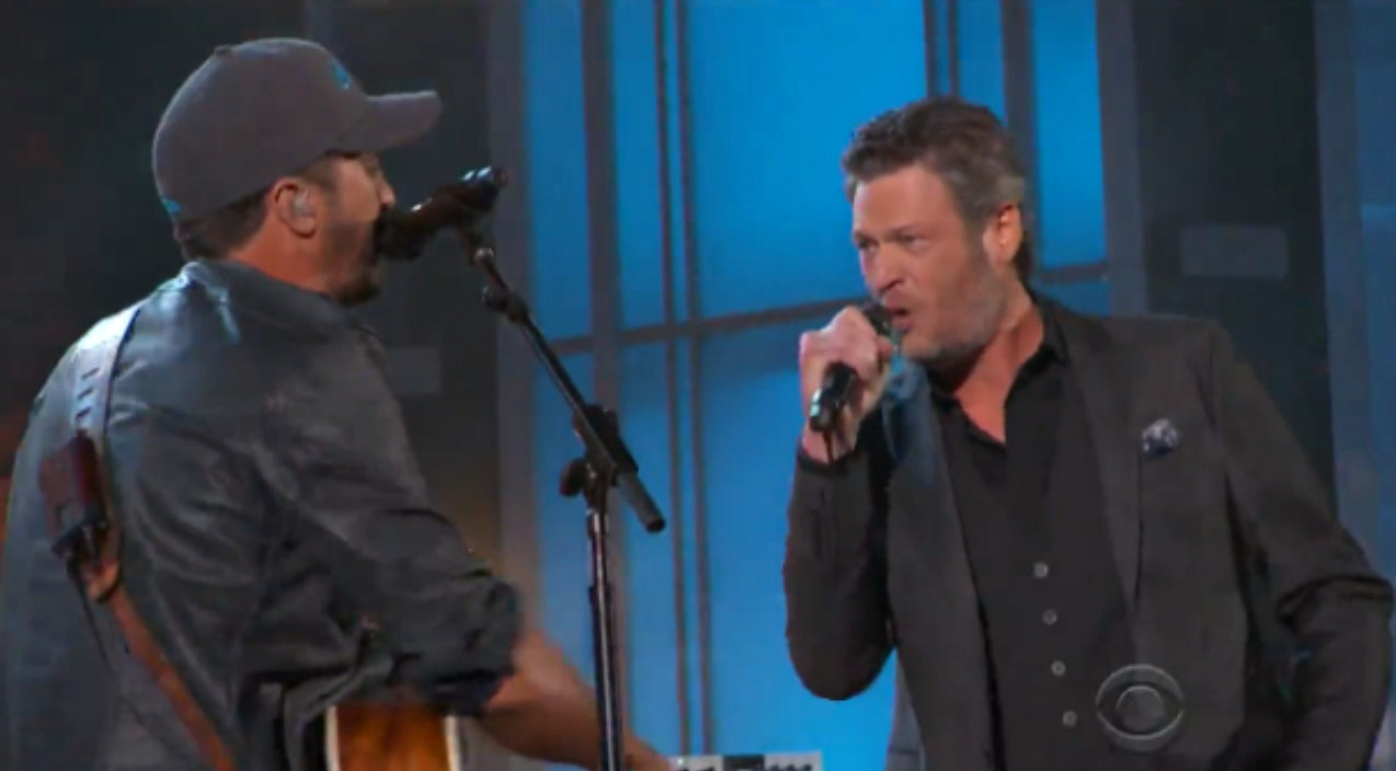 Luke bryan Songs | Blake Shelton Crashes Luke Bryan's Opening ACM Awards Number | Country Music Videos