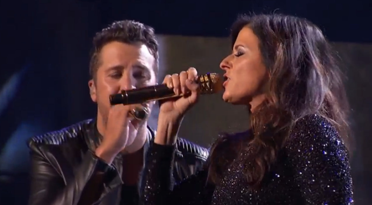 Luke bryan Songs | Luke Bryan And Karen Fairchild Deliver Steamy AMA Performance of 'Home Alone Tonight' | Country Music Videos