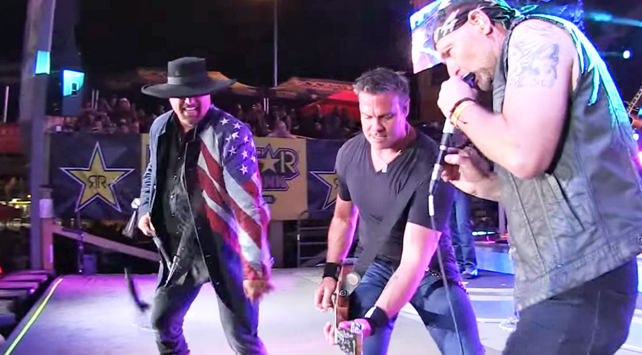 Montgomery gentry Songs | 'Survivorman', Les Stroud, KILLS It On Harmonica During Concert Jam With Troy & Eddie | Country Music Videos