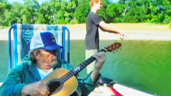Merle haggard Songs | Ben Haggard Fishing While Merle Haggard Sings To Him (Rare!) (WATCH) | Country Music Videos