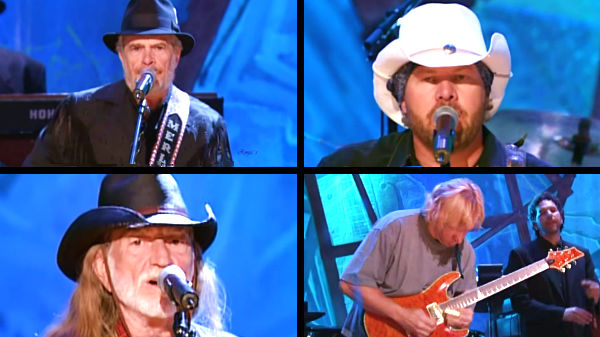 Willie nelson Songs | Merle Haggard, Toby Keith, Willie Nelson, and Joe Walsh - Ramblin' Fever | Country Music Videos