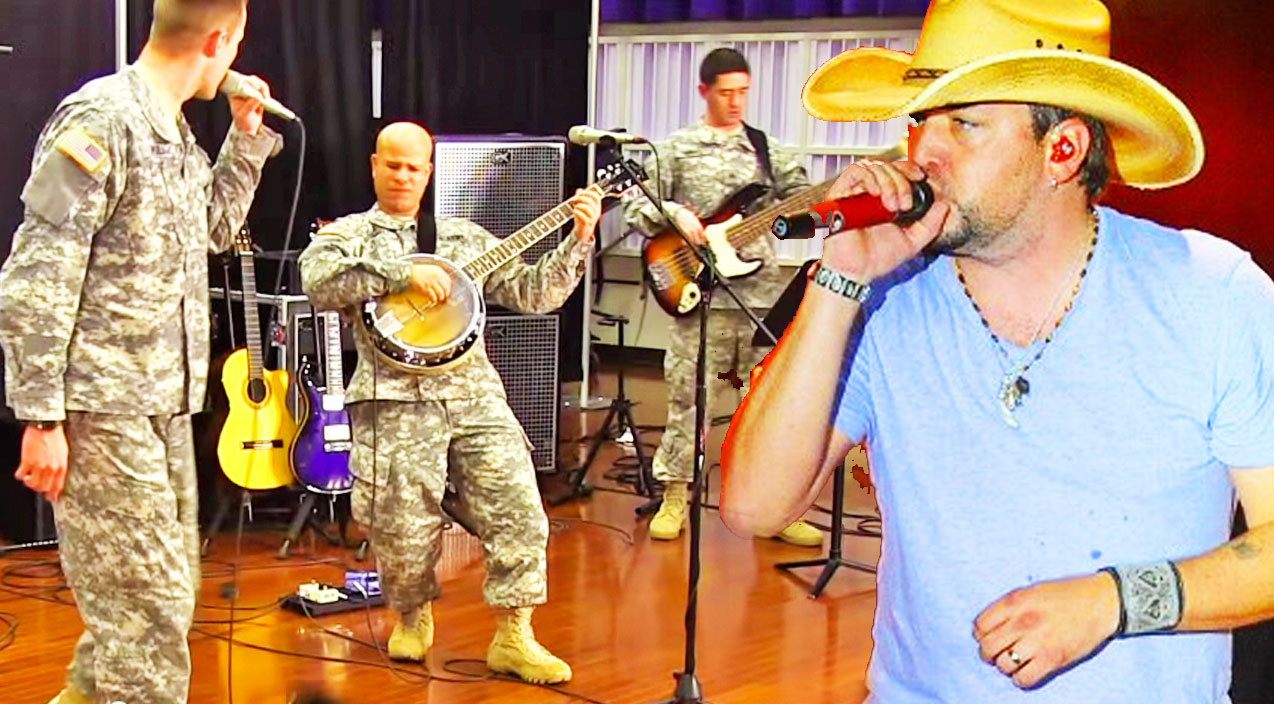 Classic country Songs | Phenomenal Military Band Pays Tribute To Jason Aldean With