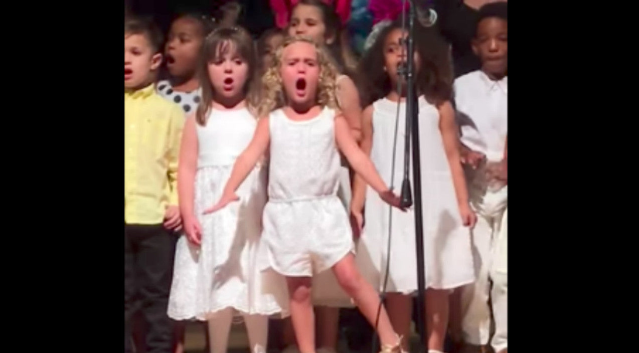Little Girl With Big Personality Steals Show With Passionate Performance Of Disney Hit | Country Music Videos