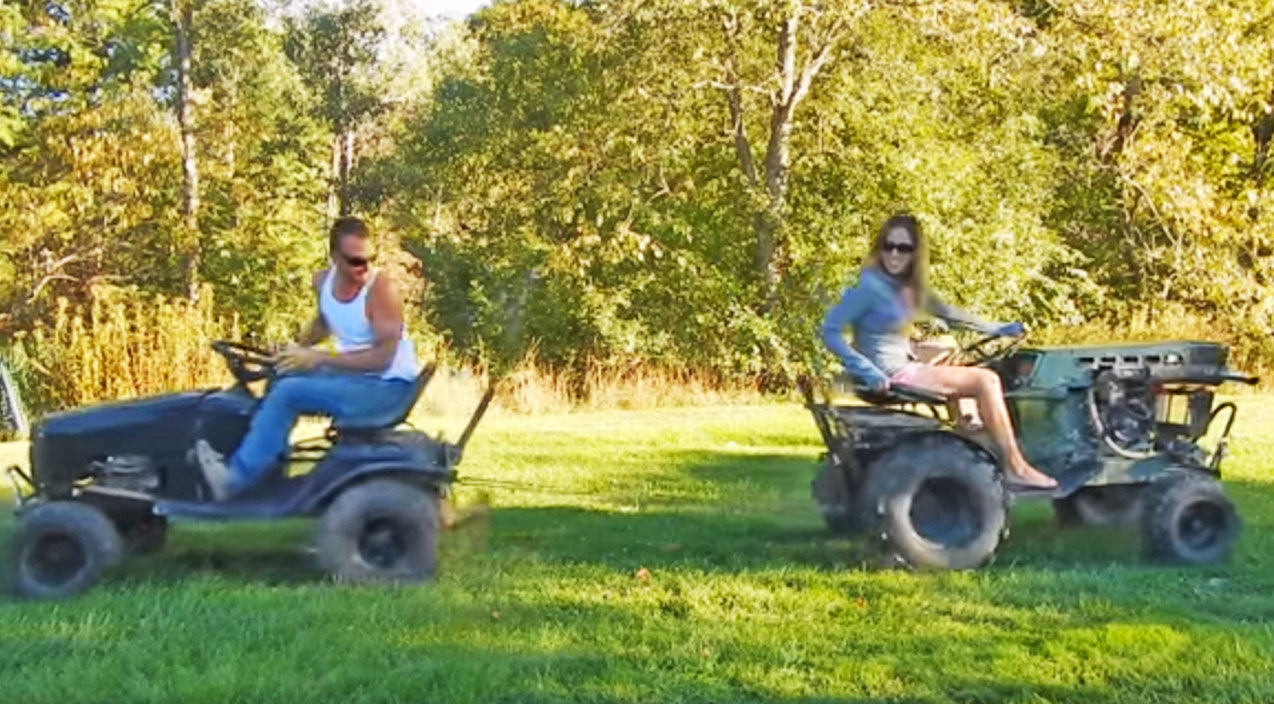 TUG OF WAR: Diesel Tractor Goes Head-To-Head With Off-Road Mower | Country Music Videos