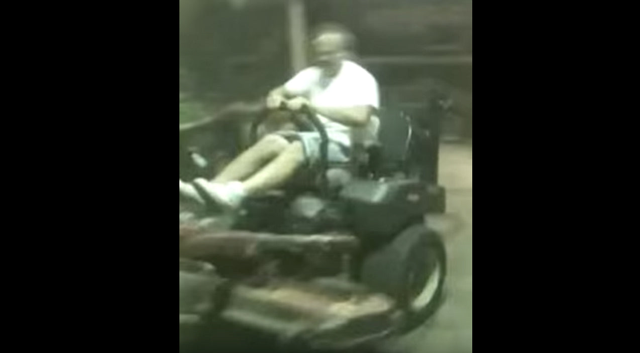 Lawn Mower Takes Man For The Ride Of His Life   Country Music Videos