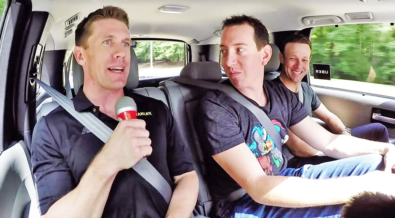 Nascar Songs | NASCAR Takes On 'Carpool Karaoke' With Hysterical Parody | Country Music Videos