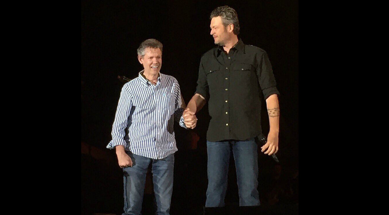 Randy travis Songs | Randy Travis Surprises Festival Goers When He Joins Blake Shelton On Stage | Country Music Videos