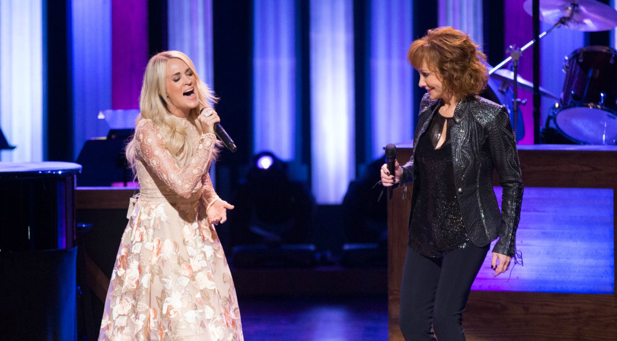 Reba mcentire Songs | Carrie Underwood Makes Surprise Opry Appearance To Sing With Reba | Country Music Videos