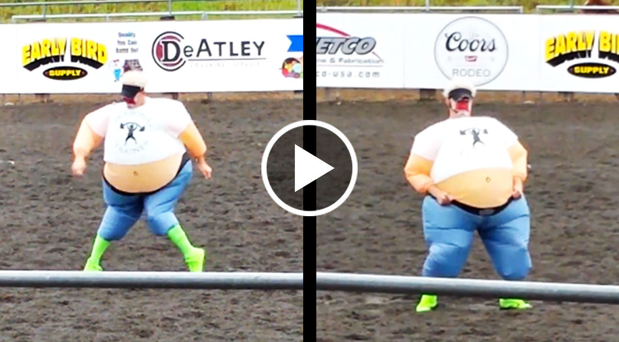 Rodeo Clown Goes Full Redneck With Hysterical Elvis Dance