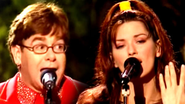Shania twain Songs | Shania Twain and Elton John - Something About The Way You Look Tonight (Live) | Country Music Videos