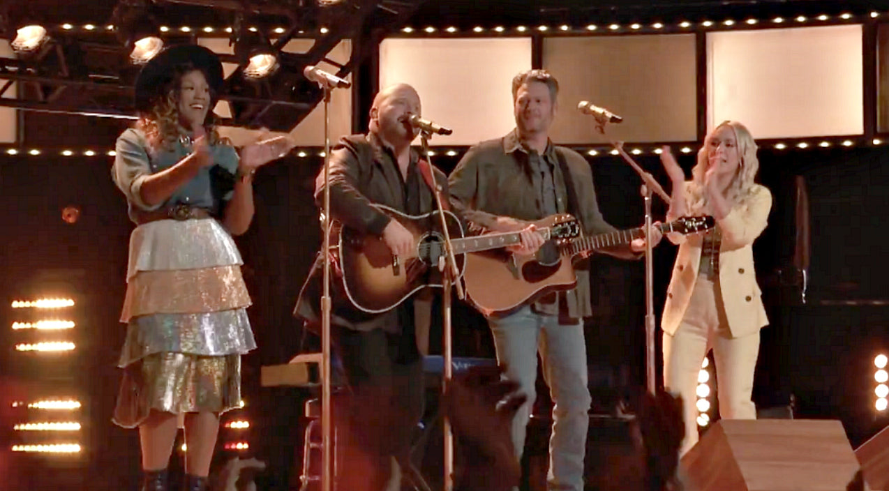 The voice Songs | Blake Shelton Joins His 'Voice' Team For Rockin' Cover Of Hank Williams Jr. Tune | Country Music Videos