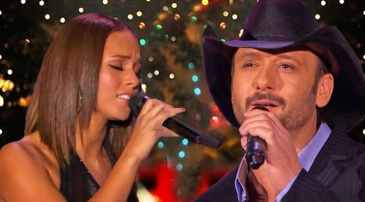 Tim mcgraw Songs | Tim McGraw & Alicia Keys Deliver Glowing Duet Of Christmas Classic | Country Music Videos