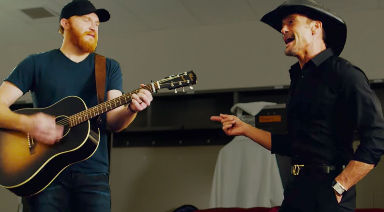 Tim mcgraw Songs   Country Star Joins Tim McGraw Backstage For Creative Cover Of George Strait's Debut Single   Country Music Videos