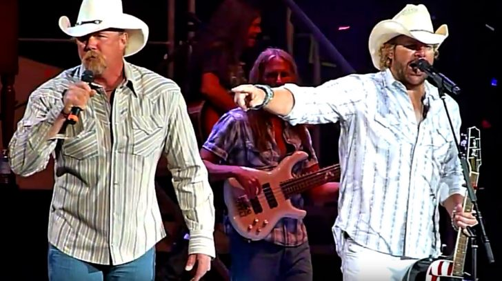 Trace adkins Songs | Trace Adkins Ignites Toby Keith Concert With Surprise 'Courtesy of the Red, White, & Blue' Duet | Country Music Videos