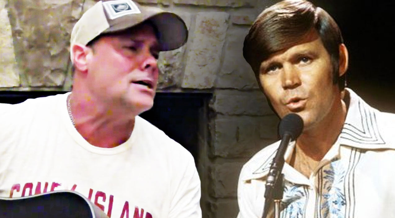 Montgomery gentry Songs | Troy Gentry Mourns Glen Campbell With Somber 'Rhinestone Cowboy' | Country Music Videos