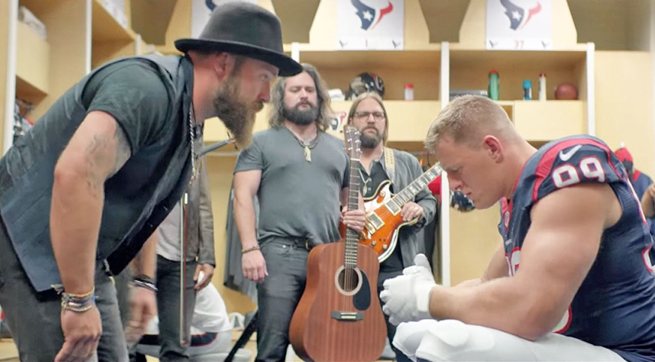 Zac brown band Songs | Zac Brown Band Gets J.J. Watt Pumped For Game Day | Country Music Videos