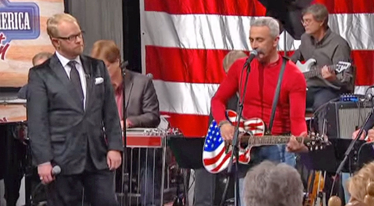 Aaron tippin Songs | Aaron Tippin Makes Us Proud To Live 'Where The Stars And Stripes And The Eagle Fly' | Country Music Videos