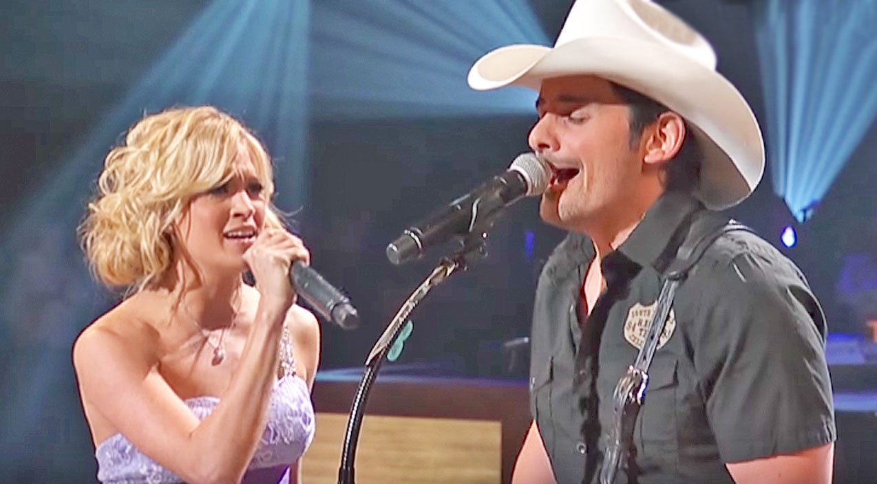 Carrie underwood Songs | Carrie Underwood & Brad Paisley Ignite Emotion With Surprise 'Remind Me' Duet | Country Music Videos