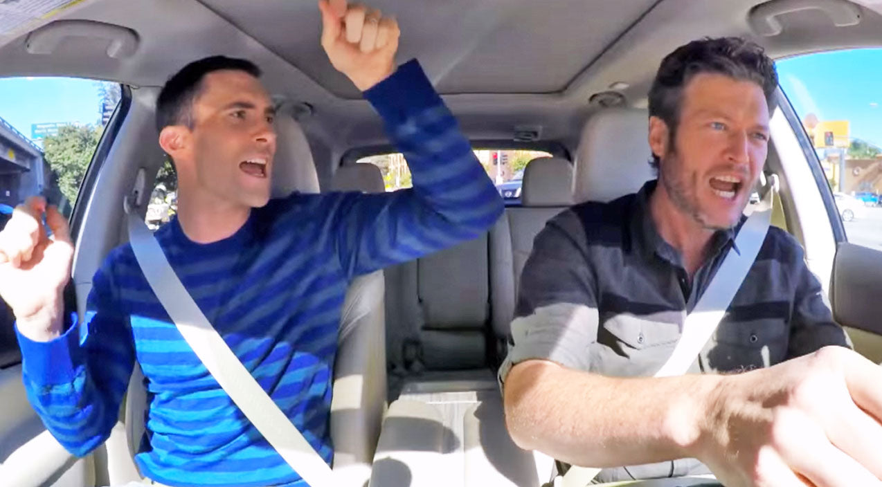 Modern country Songs | Blake Shelton & Adam Levine Discover Hidden Talent While Commuting To Work | Country Music Videos
