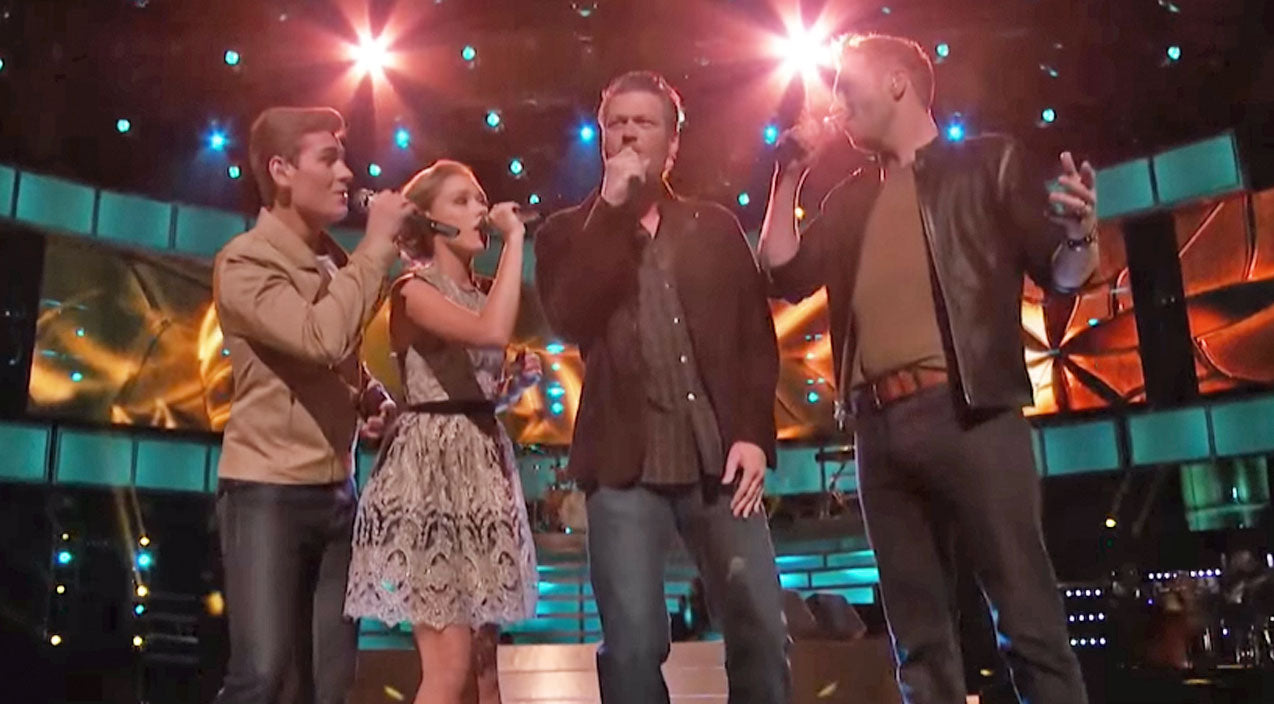 Classic country Songs | Blake Shelton Leads 'Team Blake' In JAW-DROPPING Performance Of 'Lean On Me' | Country Music Videos