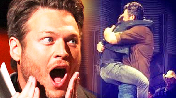 Blake shelton Songs | Blake Shelton and Justin Moore Hug on Stage! (VIDEO) | Country Music Videos