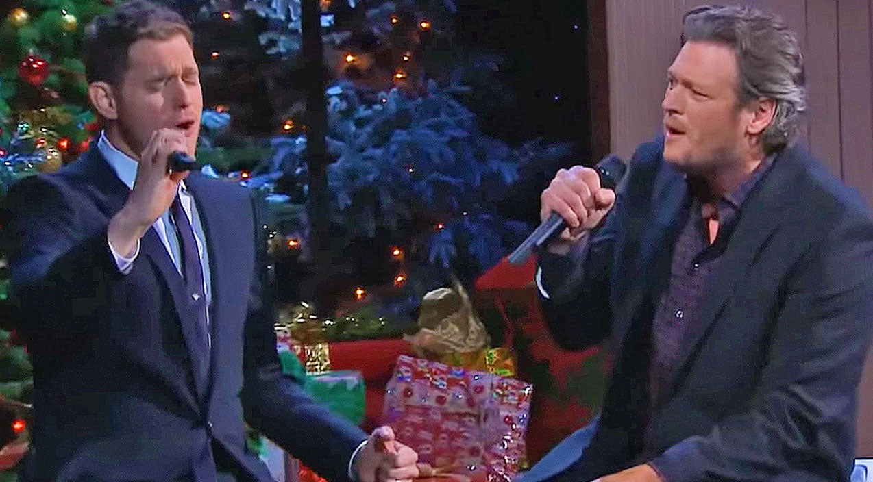 Michael bublé Songs | Blake Shelton and Michael Bublé Perform Christmas Version Of Their Hit 'Home' | Country Music Videos