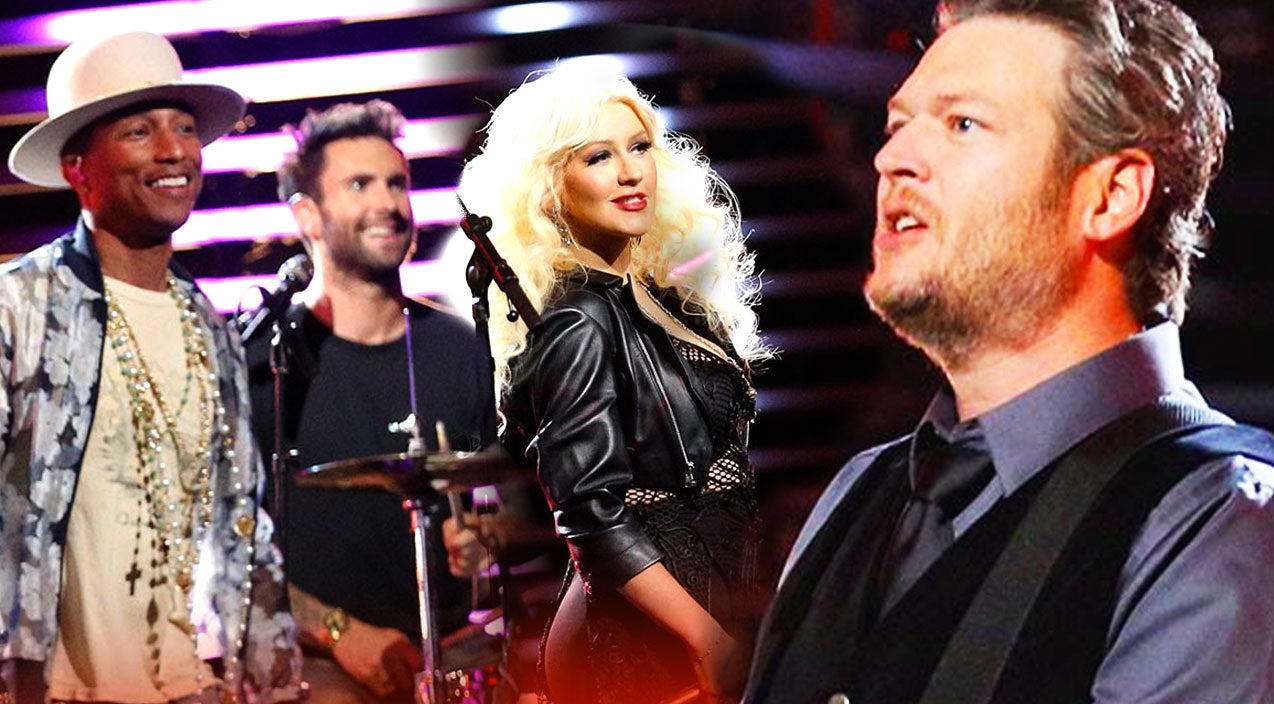 Blake shelton Songs | Blake Shelton Rocks Out With 'Voice' Cast (VIDEO) | Country Music Videos