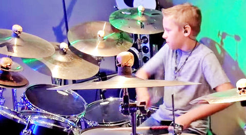 This 9-Year-Old Kills It On The Drums To Blake Shelton's 'Footloose' | Country Music Videos