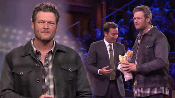 Blake shelton Songs | Blake Shelton - Random Object Football Toss (Jimmy Fallon Show) | Country Music Videos