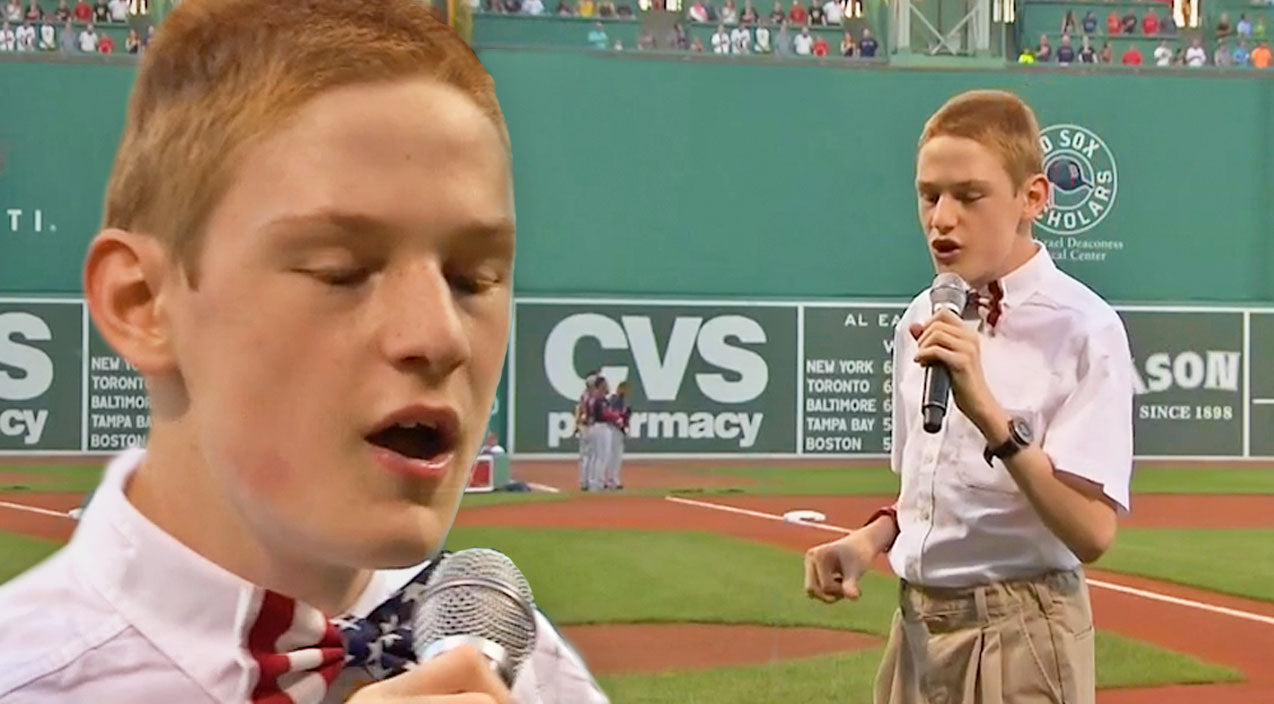 Blind And Autistic Teen Sings National Anthem At Fenway Park, And He Will Blow You Away | Country Music Videos
