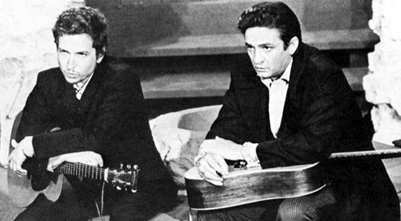 Johnny cash Songs | Johnny Cash & Bob Dylan Deliver Us From Evil With Heavenly 'Just A Closer Walk With Thee' | Country Music Videos