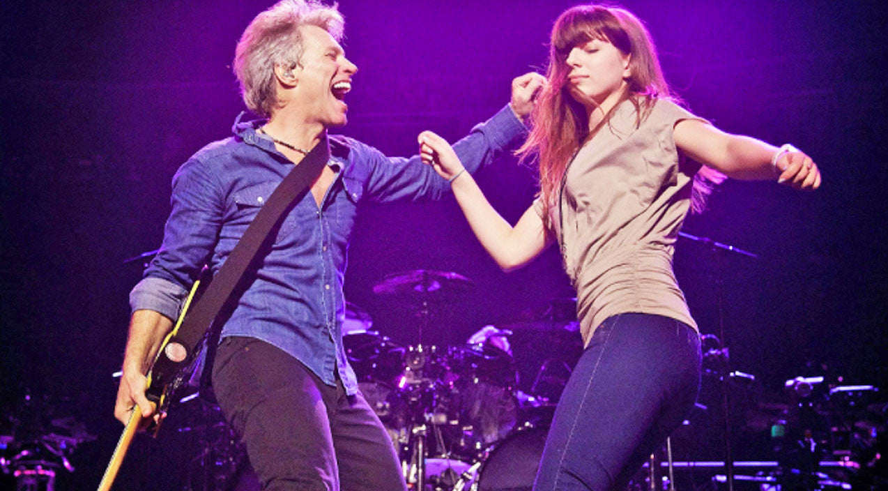 Jon bon jovi Songs | Jon Bon Jovi & His Daughter Dance On Stage Together To A Song He Wrote For Her | Country Music Videos