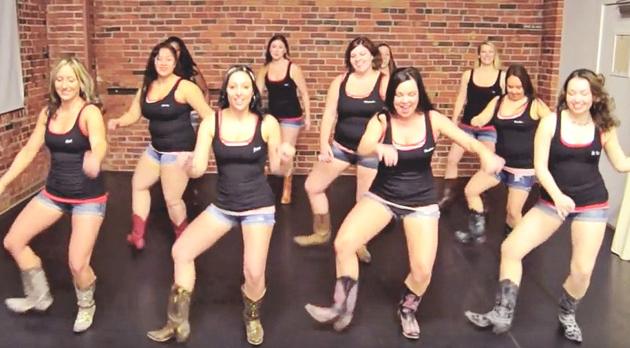Boot Boogie Babes Crank Up The Heat In 'Texas'-Themed Line Dance | Country Music Videos
