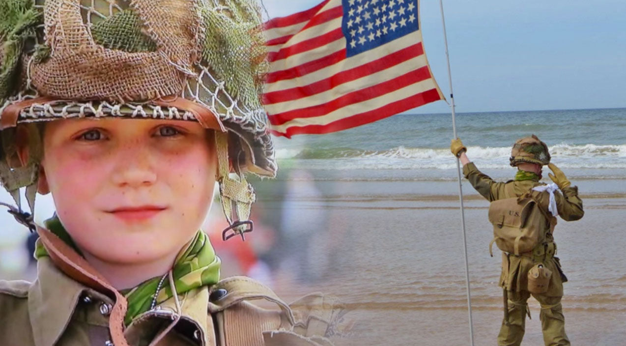 11-Year-Old Salutes Over An Hour on Omaha Beach. What Happens Next Will Give You Chills! (WATCH) | Country Music Videos